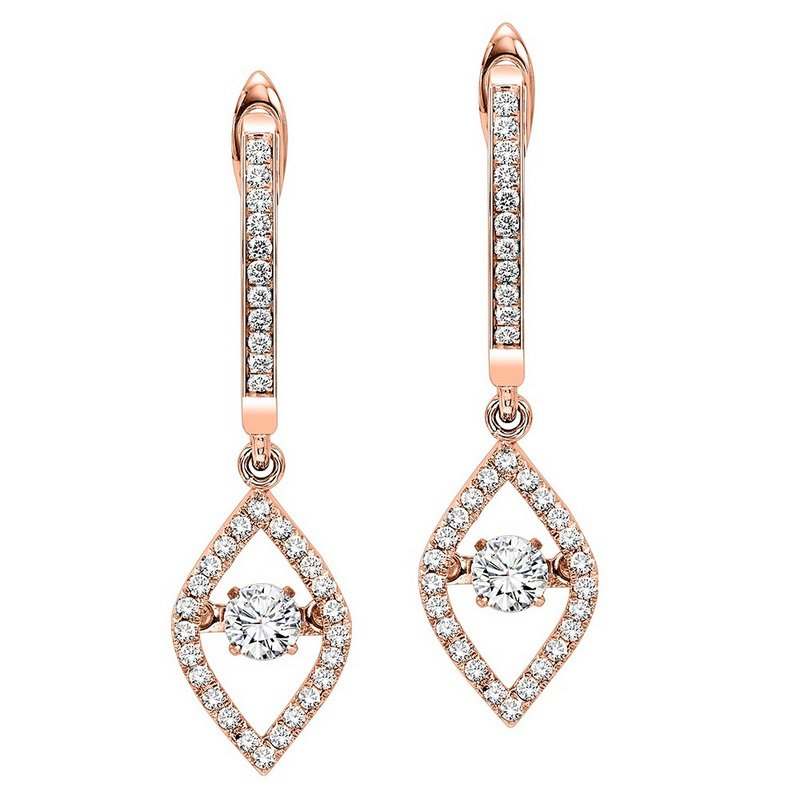 Necker's Signature Collection 14K Diamond Rhythm Of Love Earrings 1/2 ctw