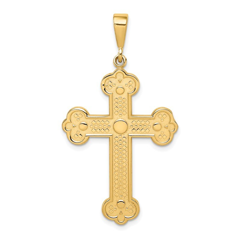 Quality Gold 14k Budded Cross Pendant