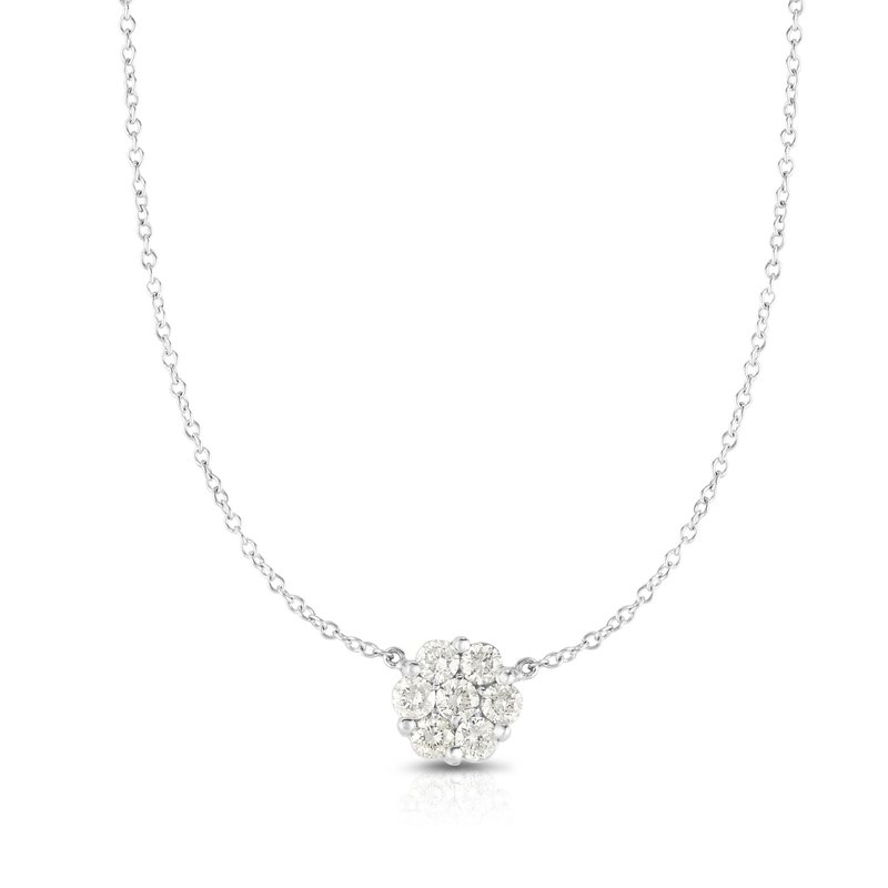 Royal Chain 14K Gold .50ct Diamond Cluster Necklace