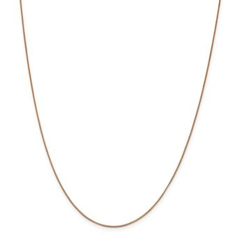 Leslie's 14K Rose Gold .7mm Box with Lobster Clasp Chain