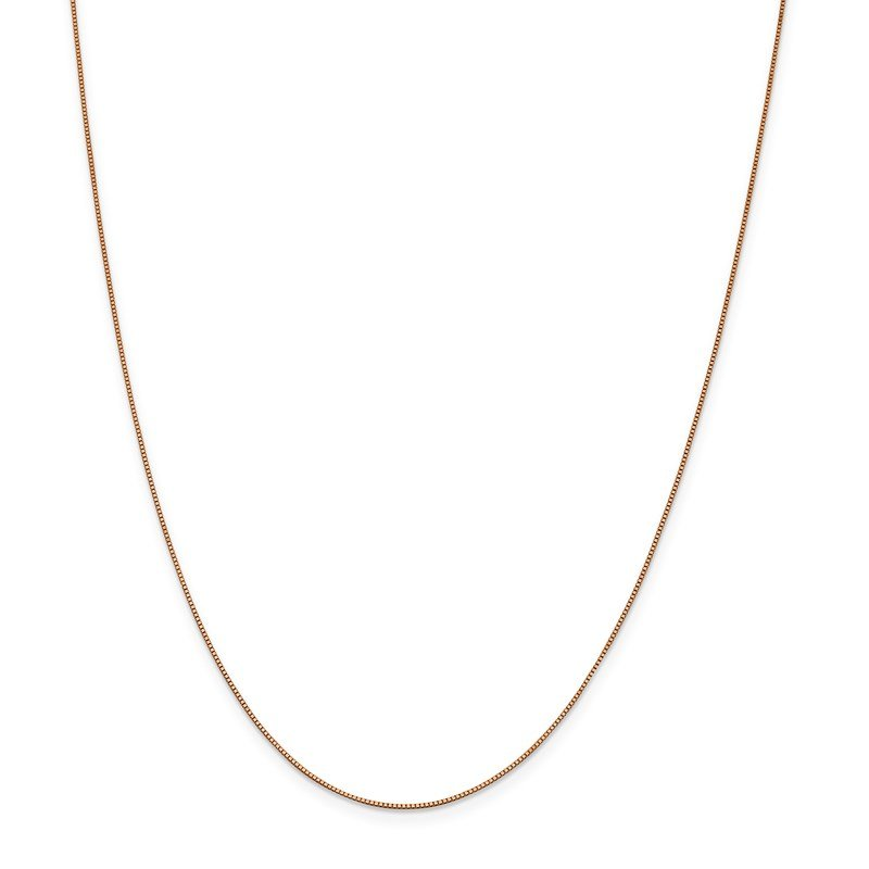 Leslie's Leslie's 14K Rose Gold .7 mm Box w/Lobster Chain