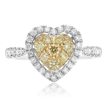 Pave Shank Diamond Heart Ring