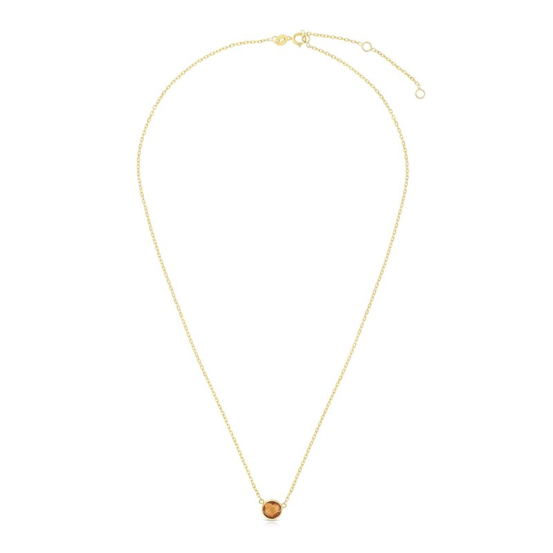 Royal Chain 14K Gold & Citrine Solitaire Necklace