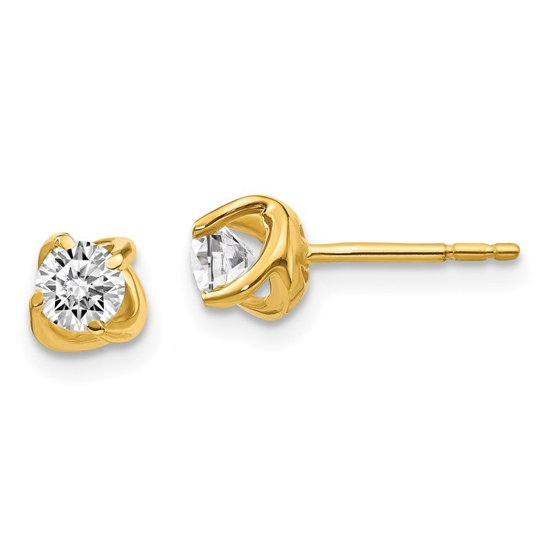 Quality Gold 14k White Gold Fancy Twist Diamond Earrings