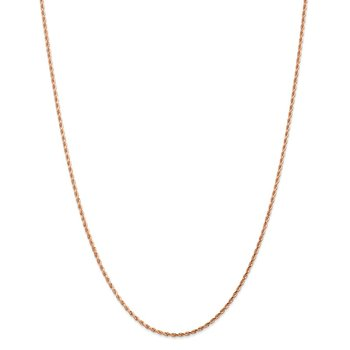 Leslie's 14K Rose Gold 1.75mm Diamond Cut Rope Chain