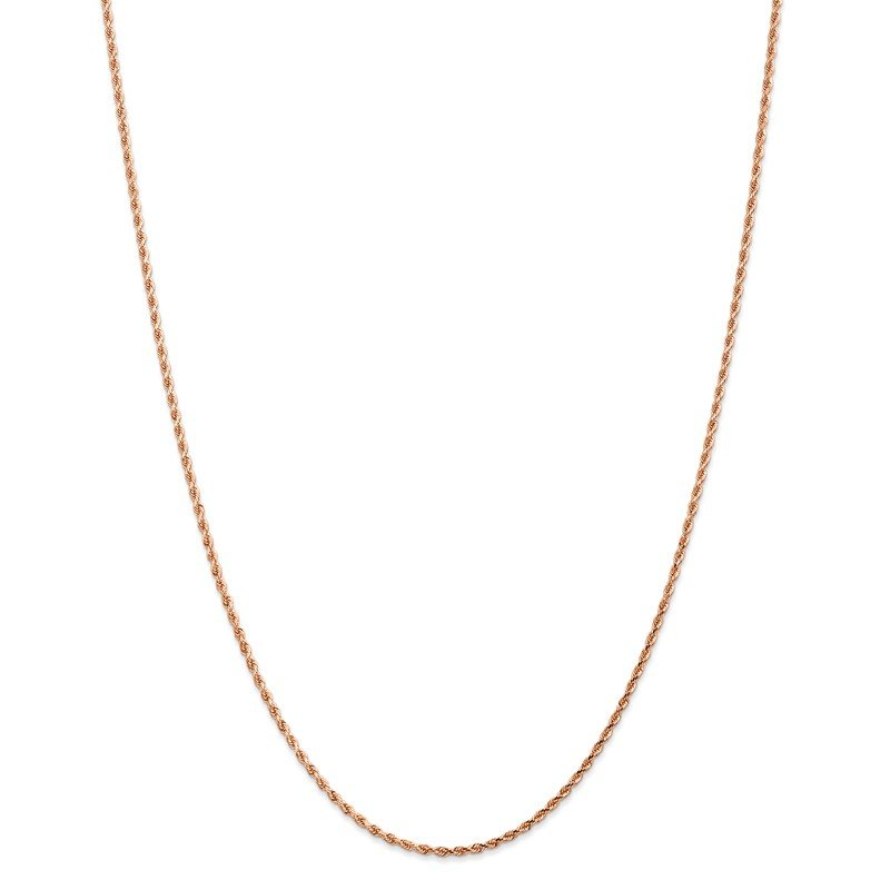 Leslie's Leslie's 14K Rose Gold 1.75mm Diamond Cut Rope Chain
