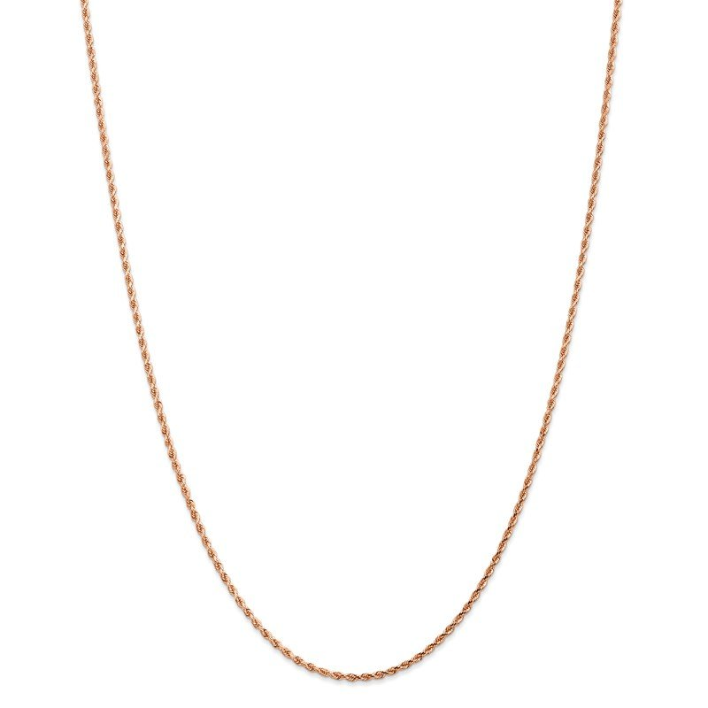 Leslie's Leslie's 14K Rose Gold 1.75mm Diamond-Cut Rope Chain