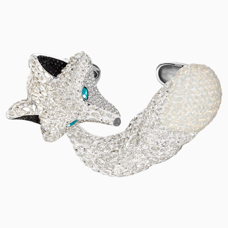 Swarovski Polar Bestiary Cuff, Multi-colored, Rhodium plated
