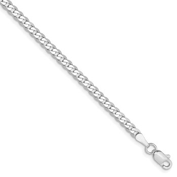 14k WG 2.9mm Flat Beveled Curb Chain