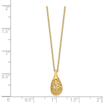 14K D/C Dangle Pendant Necklace