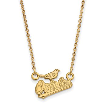 Gold-Plated Sterling Silver Baltimore Orioles MLB Necklace