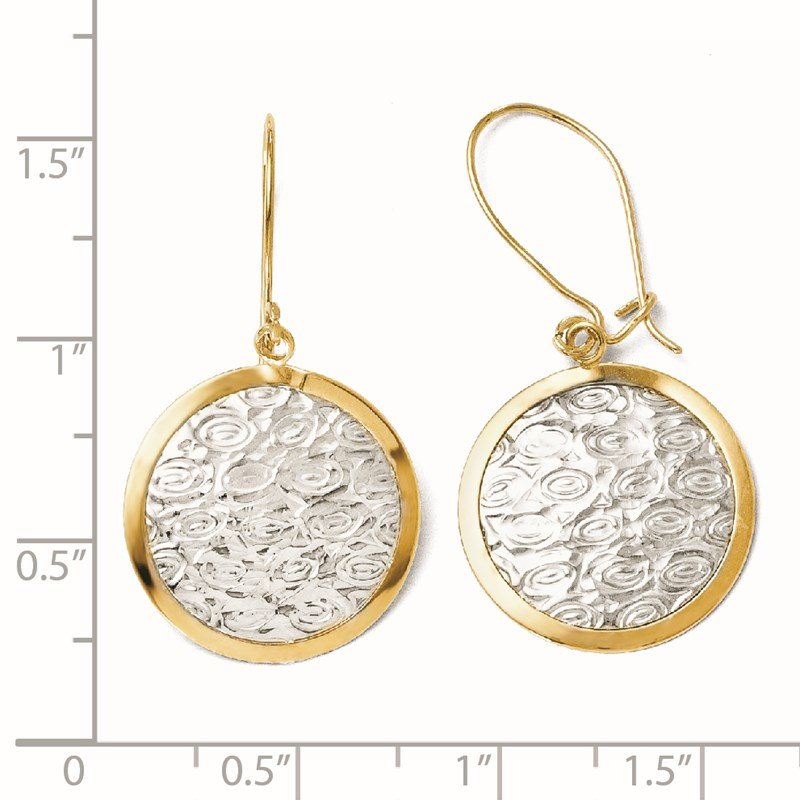 Leslie's Leslie's 10K w/Rhodium Polished and Textured Dangle Earrings