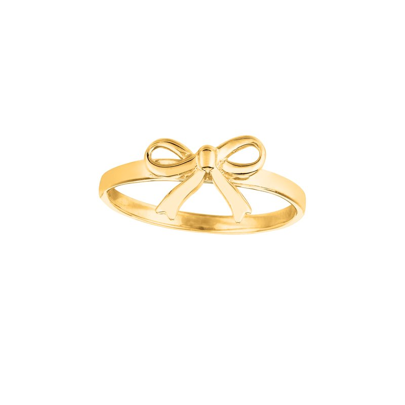 Royal Chain 14K Gold Bow Ring