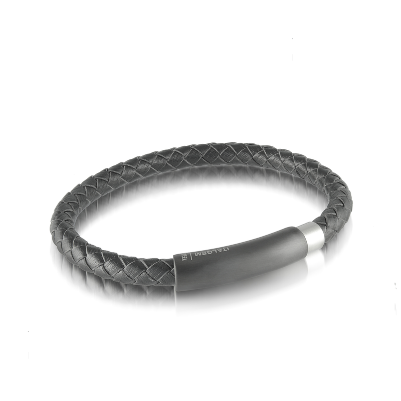 Italgem Steel Italgem Steel Leather Bracelet
