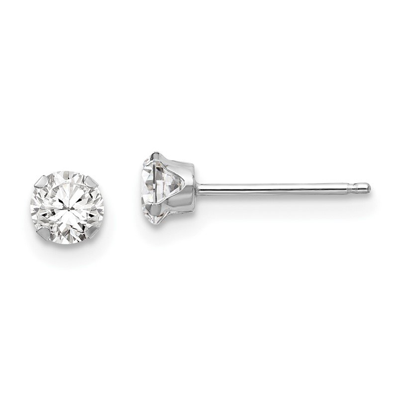 Quality Gold 14k White Gold Madi K 4mm CZ Post Earrings