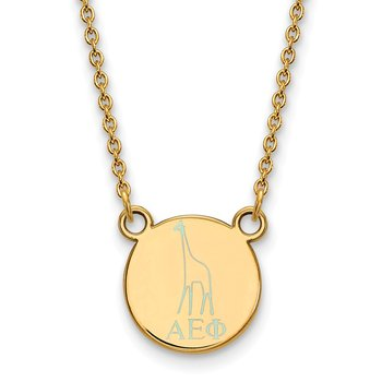Gold-Plated Sterling Silver Alpha Epsilon Phi Greek Life Necklace