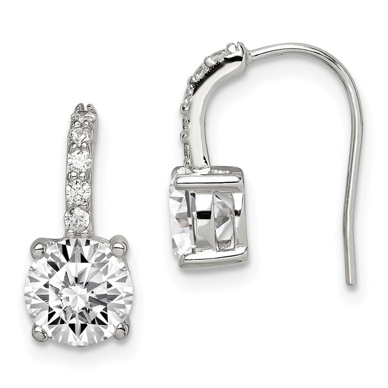 Quality Gold Sterling Silver CZ Earrings