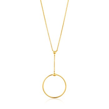Orbit Drop Circle Necklace