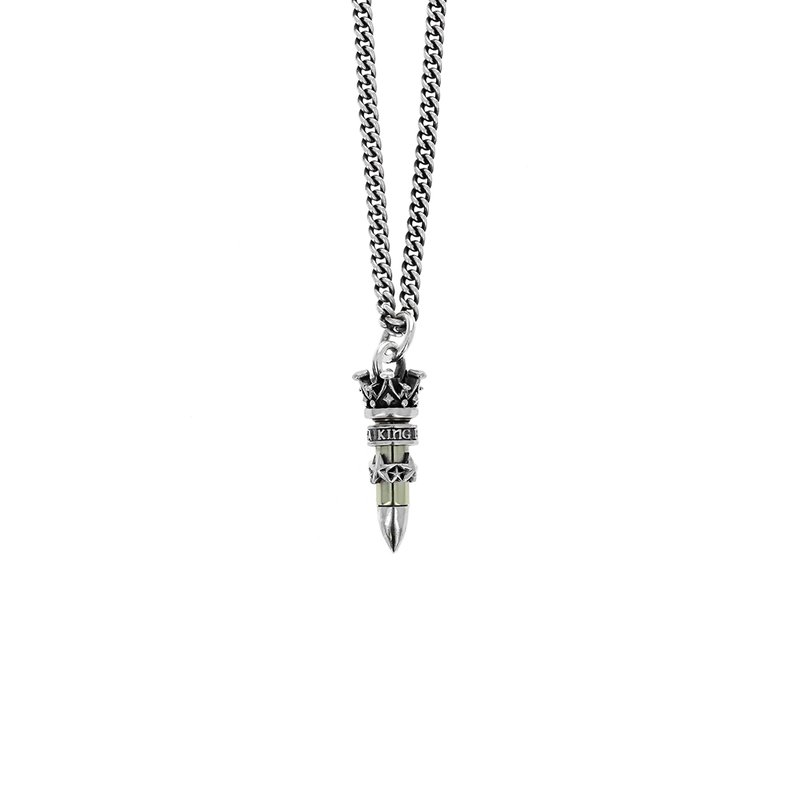 King Baby .22 Caliber Bullet With Stars Pendant