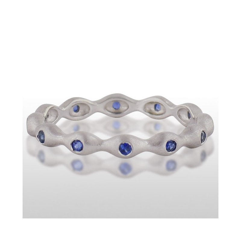 Novell Ladies' White Gold Blue Sapphire Ring