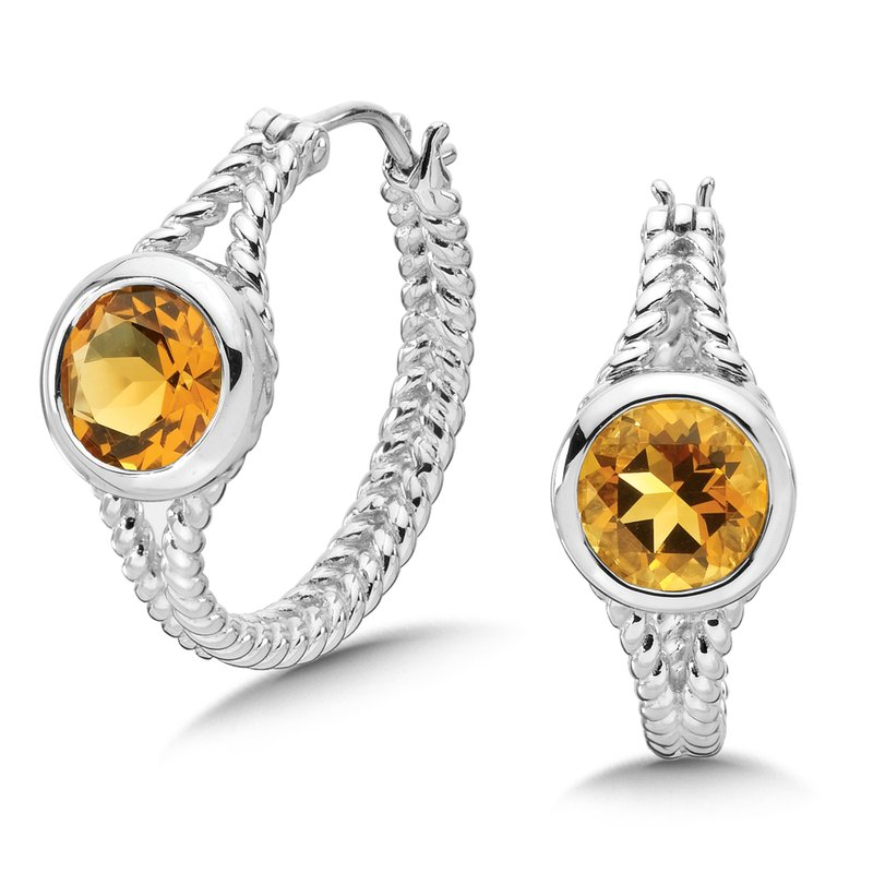 Colore Sg Sterling Silver and Citrine Earrings