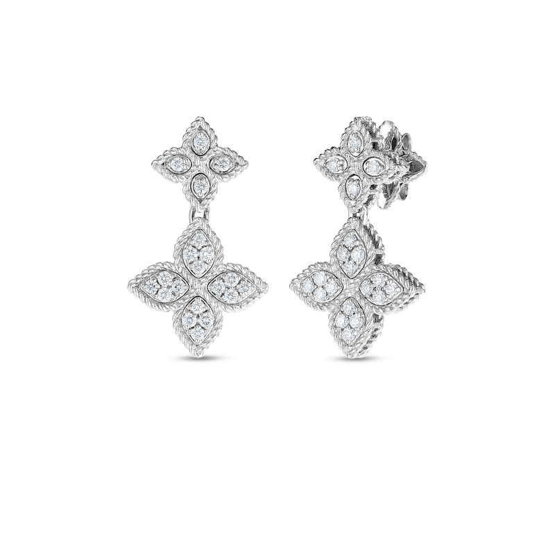 Roberto Coin  #27633 Of 18K Gold & Diamond Drop Earring