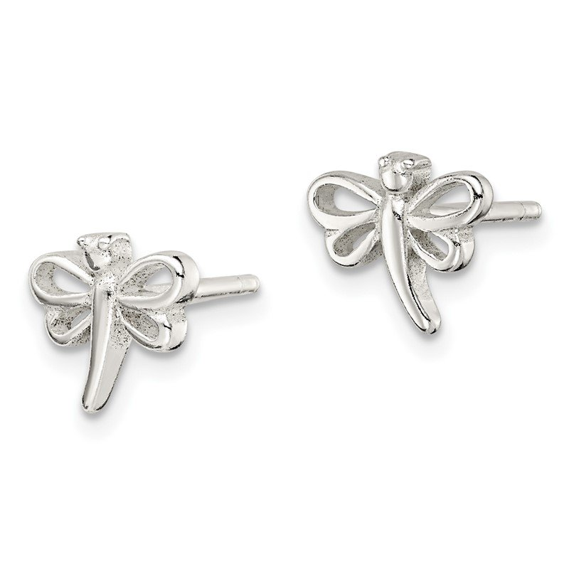 Quality Gold Sterling Silver Dragonfly Post Earrings
