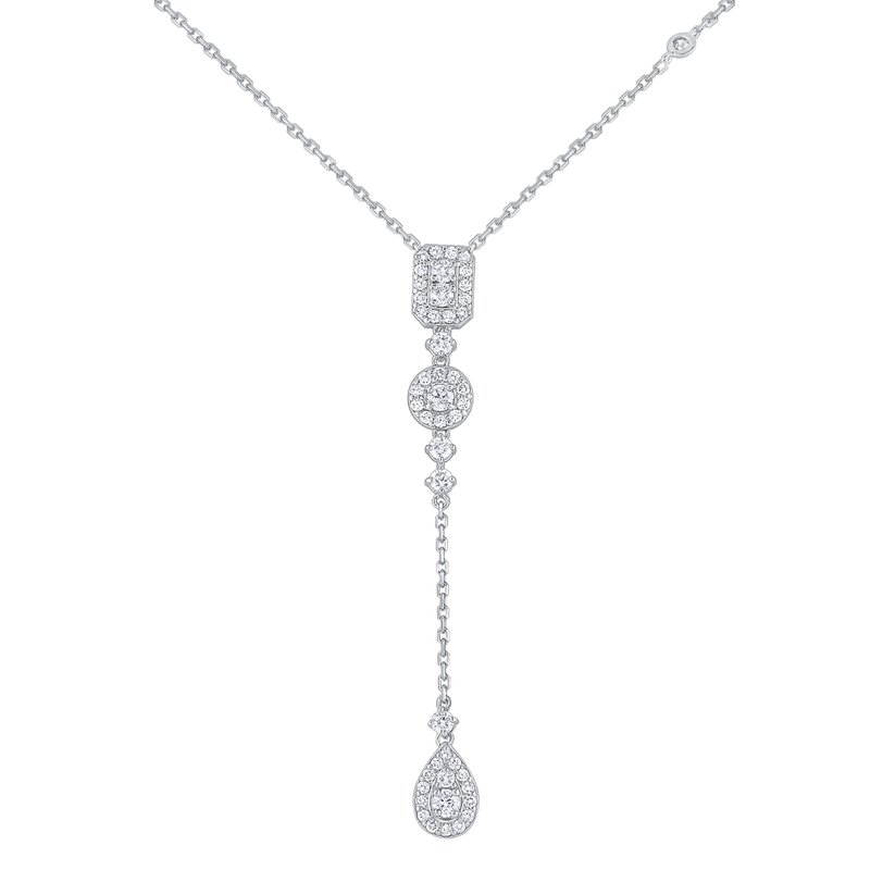 MAZZARESE Fashion Diamond  Drop Necklace Set in 14 Kt. Gold