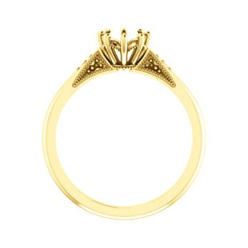 18K Yellow 5.8 mm Round 8-Prong Engagement Ring Mounting