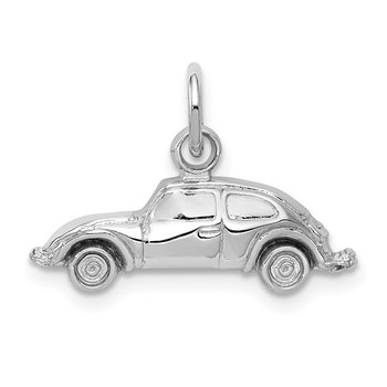 14k White Gold Car Charm