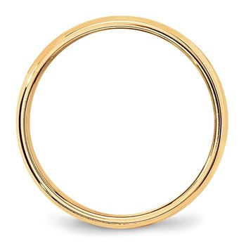 14k 6mm Milgrain Half-Round Wedding Band