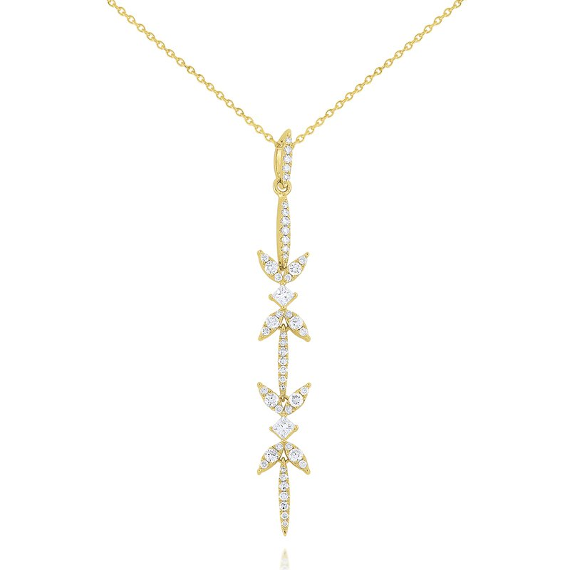 KC Designs Diamond Miracle Marquise Line Pendant Set in 14 Kt. Gold