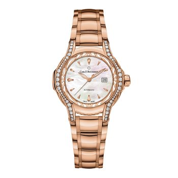 Pathos Diva 34mm 18KRG Mother of Pearl Womens Watch