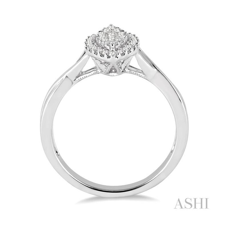 ASHI marquise shape lovebright diamond ring