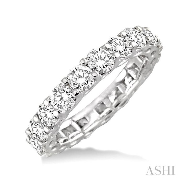 ASHI eternity diamond wedding band