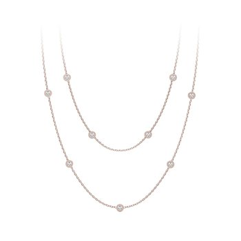 The Forevermark Tribute™Collection Diamond Station Necklace