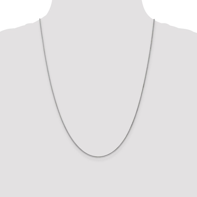 Leslie's Leslie's 14K White Gold 1.2mm Spiga (Wheat) Chain