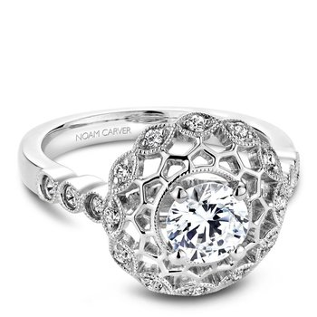 Noam Carver Floral Engagement Ring B068-01A