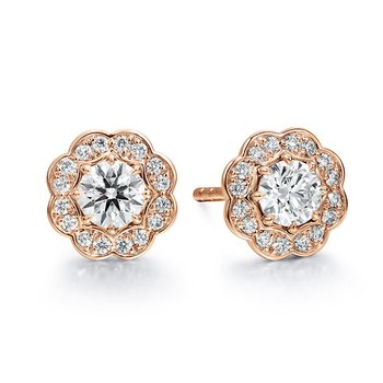 1 ctw. Lorelei Diamond Halo Stud Earrings