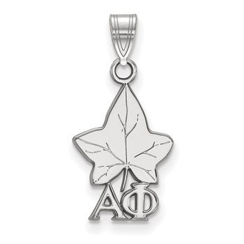 Sterling Silver Alpha Phi Greek Life Pendant
