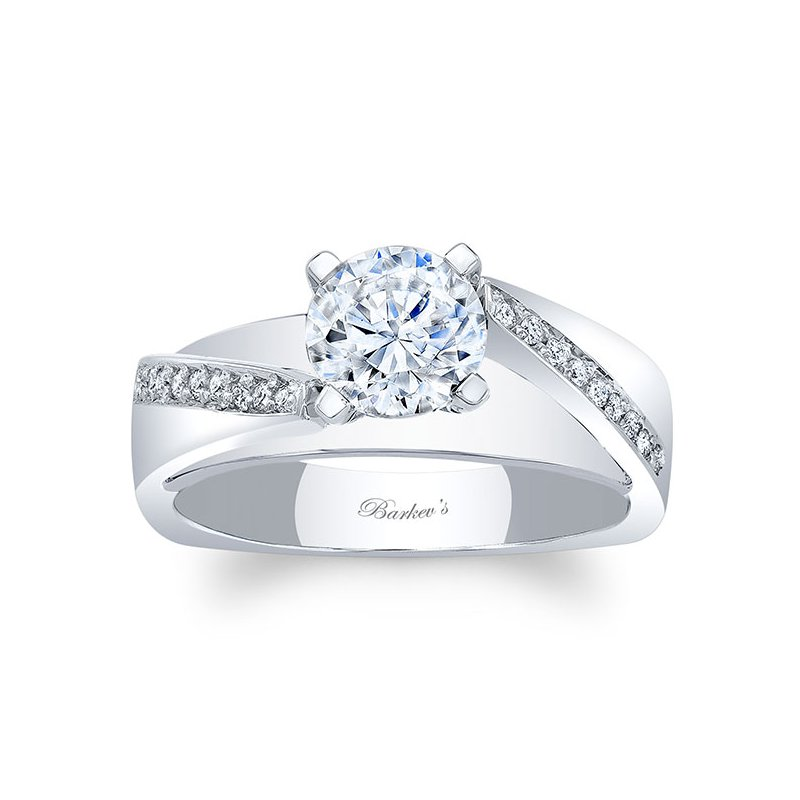 Barkev's White Gold Engagement Ring