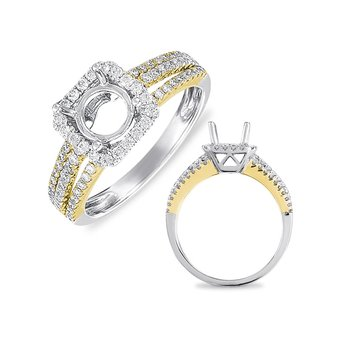 White & Yellow Engagement Ring