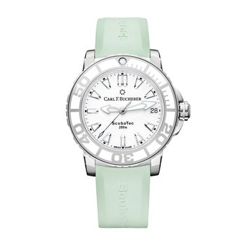 Patravi ScubaTec 37mm Stainless Mint Strap Womens Watch