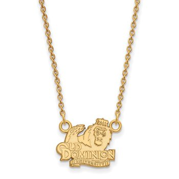 Gold-Plated Sterling Silver Old Dominion University NCAA Necklace