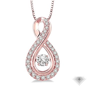 Infinity Shape Emotion Diamond Pendant