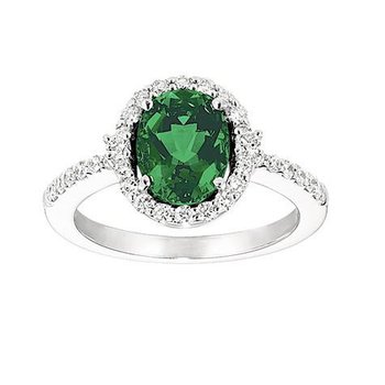 Emerald Ring-CR6645WEM