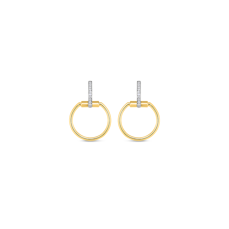 Roberto Coin  #19691 Of Earrings With Diamonds