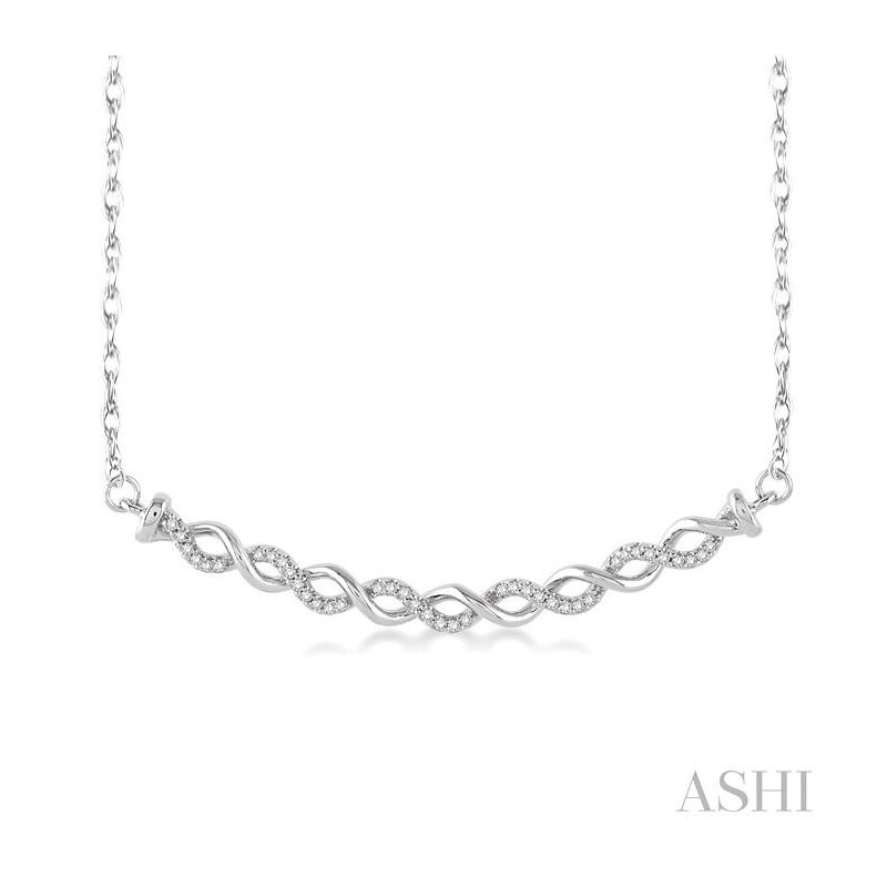 ASHI twisted infinity diamond pendant