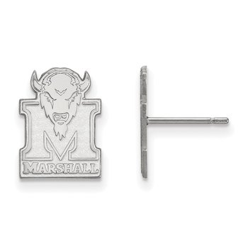 Sterling Silver Marshall University NCAA Earrings