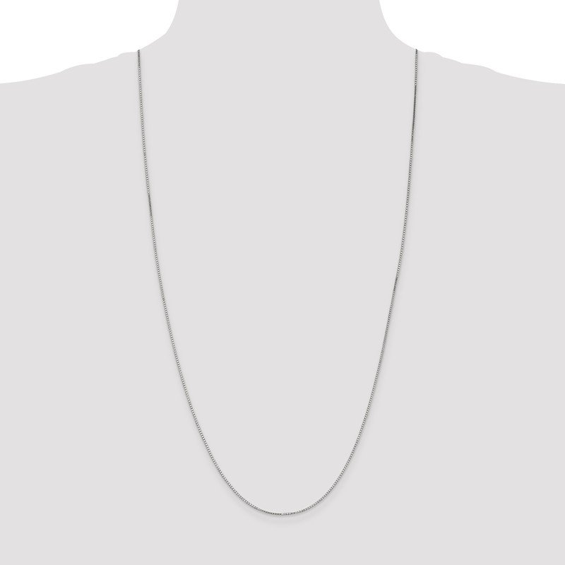 Leslie's Leslie's 14K White Gold 1.2mm Box Chain